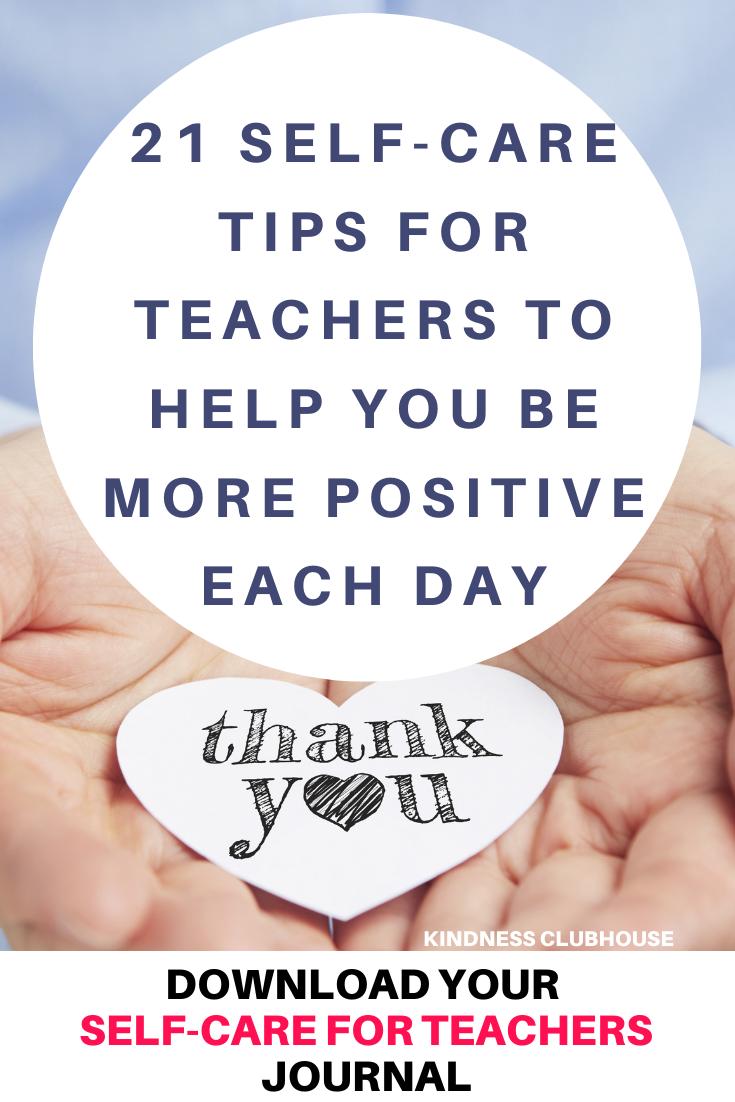 Copy of Self Care for Teachers Pinterest