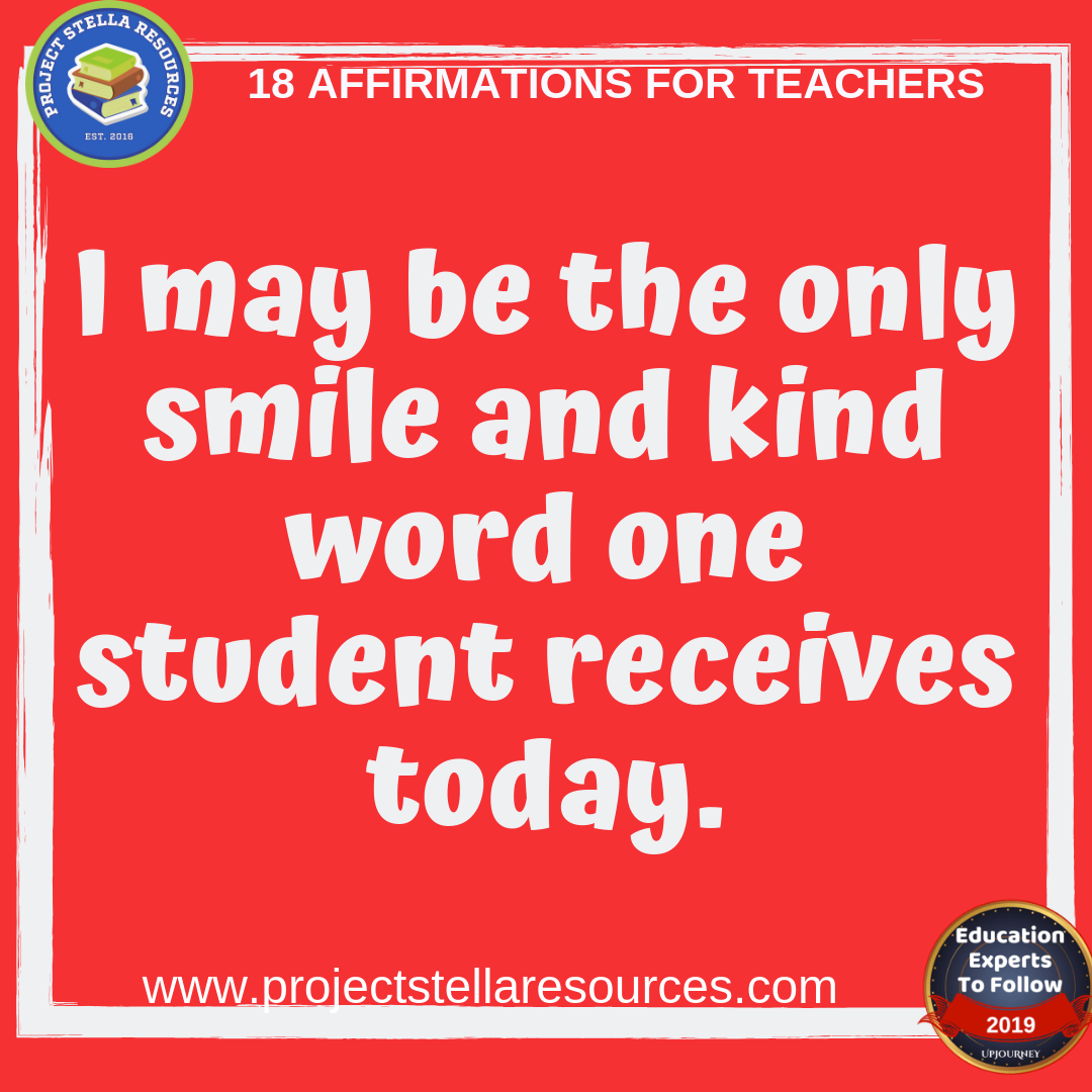 18 Affirmations for Teachers to share to have an awesome